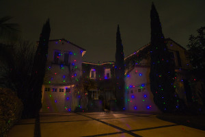 1 Red, 1 Blue & 1 Green Illuminator placed 20' away along driveway.